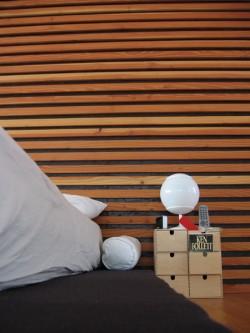 loft ecologico, testata letto