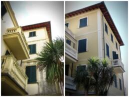 facciata silicati prima e dopo